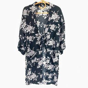 Spiritual Gangster Maya Kimono Floral Cardigan OS